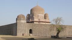 Hoshang's Tomb backside,Mandu,India Stock Footage