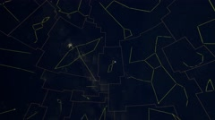Constellations of Northern Hemisphere mapped to a sphere. Galaxy space imagery Stock Footage