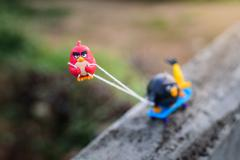 Chiang Mai, Thailand – June 13 , 2016: Red Angry bird Pull his friends up th Stock Photos