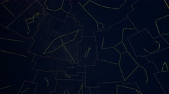 Constellations of Northern Hemisphere mapped to a sphere. Tycho Catalogue Stock Footage