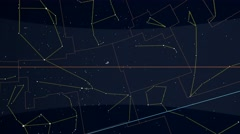 Zodiacal constellations mapped to a sphere. Scaled star shapes Stock Footage