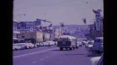 1963: a road is seen having flags along BARRINGTON, ILLINOIS Stock Footage
