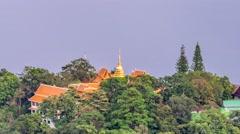 Time lapse Doi Suthep temple. Stock Footage