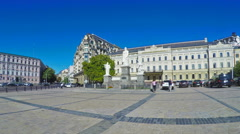 The monument of Grand Princess Olga in Kiev Stock Footage