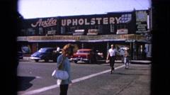 1963: a woman is seen calling the cameraman BARRINGTON, ILLINOIS Stock Footage