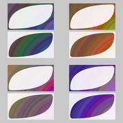 Colorful fractal art business card design set Stock Illustration