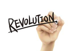 Revolution written by hand Stock Illustration