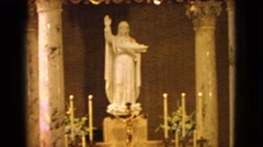 1963: the video shows inside a church a prayer area BARRINGTON, ILLINOIS Stock Footage