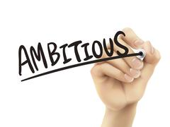 Ambitious written by hand Stock Illustration