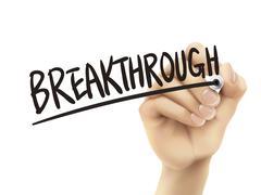 Breakthrough written by hand Stock Illustration