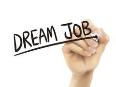 Dream job written by hand Stock Illustration