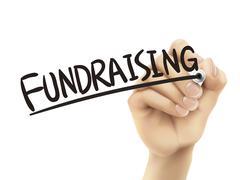 Fundraising written by hand Stock Illustration