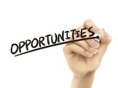 Opportunities written by hand Stock Illustration