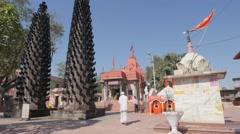 Jai Maa Harsiddhi temple,Ujjain,India Stock Footage