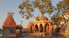 Temples on Ram Ghat,Ujjain,India Stock Footage