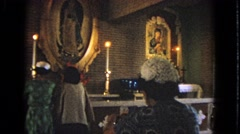 1963: praying in church BARRINGTON, ILLINOIS Stock Footage