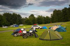 OSLO, NORWAY-JULY 16: Camp in Oslo 16, 2016 in Oslo, Norway. Camping in the O Stock Photos