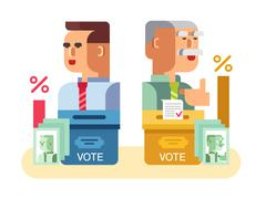 Elections candidates characters Stock Illustration
