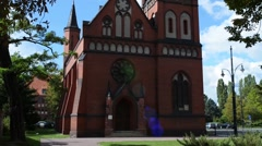 Church of St. Stephen in Torun, poland Stock Footage