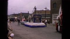 1963: the floats in the parade BARRINGTON, ILLINOIS Stock Footage