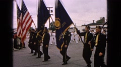 1963: small town military parade BARRINGTON, ILLINOIS Stock Footage