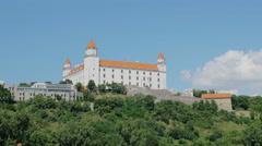 Picturesque view of bratislava Stock Footage