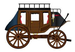 Western Stage Coach Stock Illustration