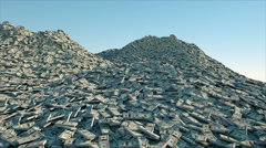 A lot of money. million dollar cash. dollar mountain. Financial concept Stock Footage