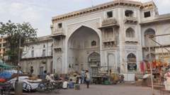 Entrance gate to Bhadra Fort,Ahmedabad,India Stock Footage