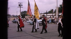 1963: a parade with cars is seen BARRINGTON, ILLINOIS Stock Footage