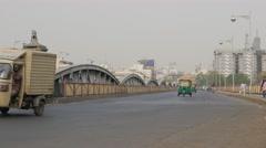 Ellis bridge with traffic,Ahmedabad,India Stock Footage