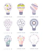 Idea Bulb Different Abstract Design Pastel Icons Stock Illustration