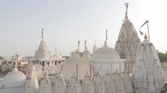 Shantinath mandir jain temple,Jamnagar,India Stock Footage