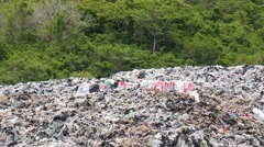 Garbage Causes Pollution and Ecological Disaster Stock Footage