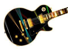Lazer Beam Guitar Stock Illustration