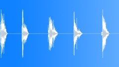 Metal plates falling on solid ground 01 Sound Effect