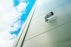 Security surveillance camera Stock Photos