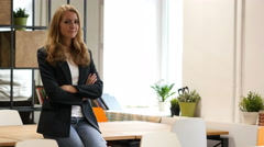 Agree, Accepting Offer by Shaking Head, Business Woman Sitting on Desk in Office Stock Footage