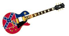 Mississippi Flag Guitar Stock Illustration