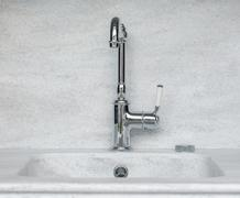 Vintage silver Polished Kitchen Faucet Stock Photos
