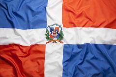 Textile flag of Dominican Republic Kuvituskuvat