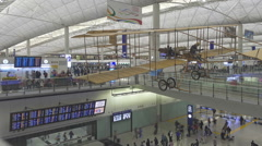 Arrival Hall in Hong Kong International Airport Stock Footage