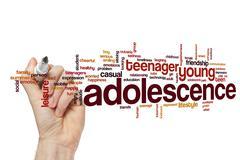 Adolescence word cloud Stock Illustration