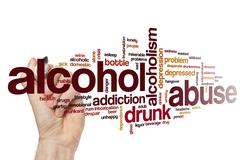 Alcohol abuse word cloud Stock Illustration