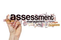 Assessment word cloud Stock Illustration
