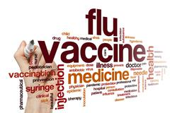 Flu vaccine word cloud Stock Illustration