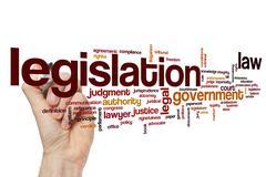 Legislation word cloud Stock Illustration