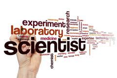 Scientist word cloud Stock Illustration