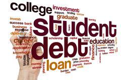 Student debt word cloud Stock Illustration
