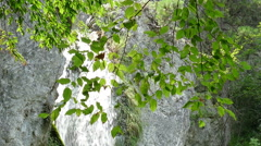 Waterfall at Olympus mountain Stock Footage
